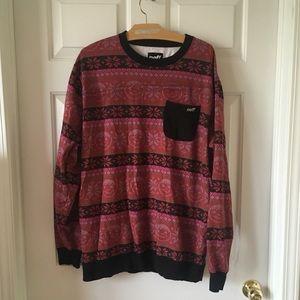 NEFF Long Sleeve Crewneck Ugly Christmas Sweater L